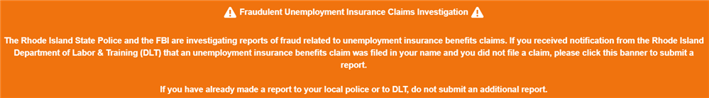 Unemployment Fraud Alert